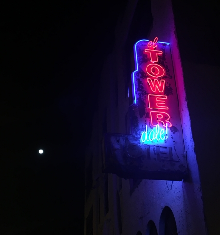 Tower Hotel sign