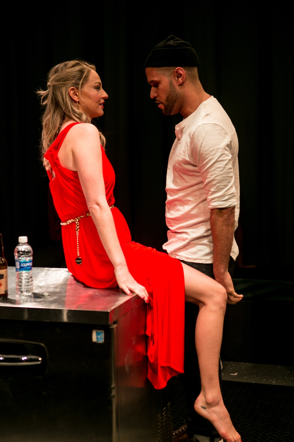 Betsy Graver and Rudi Goblen in Miami New Drama's Queen of Basel, by Hilary Bettis.
